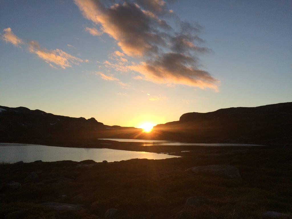Solnedgang Holmen Lifjell